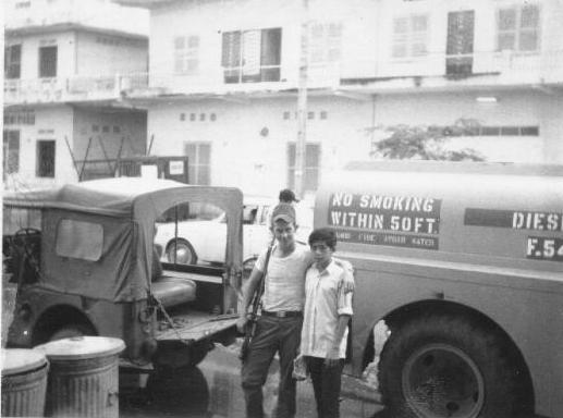 Sgt Dwight Goggans and pal - South Vietnam