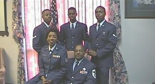 SMSgt Willie Wanzo and family